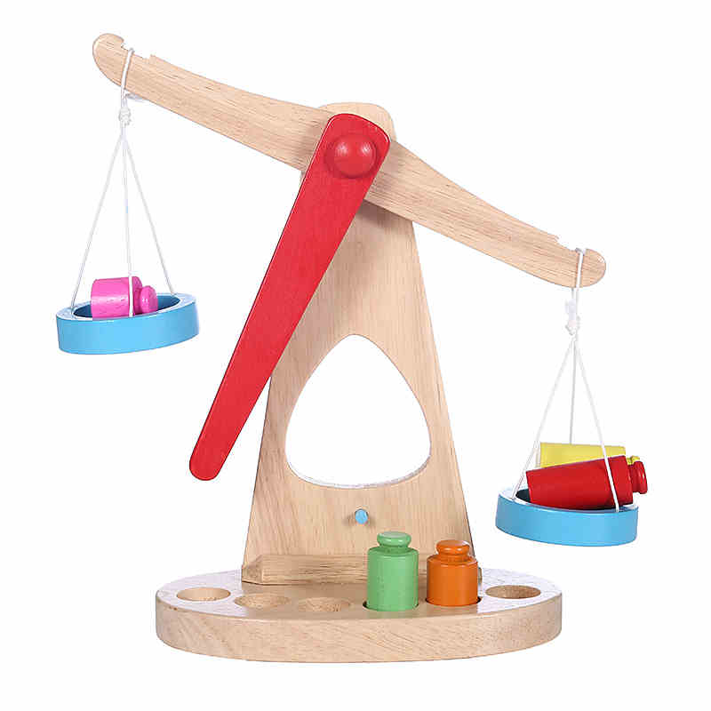 Toys baby wooden balance game balance scale wooden puzzle for children 1-6 years old early childhood enlightenment boy experiment