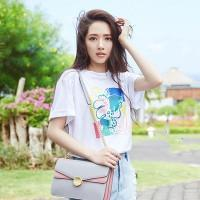 4206b2f7d Short-sleeved t-shirt female tide 2019 new loose Korean version ins white  t-shirt star with the same t-shirt shirt