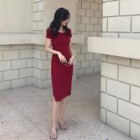 982d1bc5b Cross open back dress female 2019 new sexy long section slim slim back skirt  goddess slim skirt summer tide
