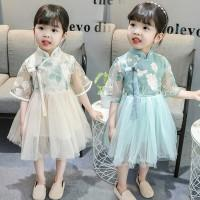 8b90b71b8 Children's sisters 2 twin girls spring and summer girls 3 dresses 4 years  old fashion 6 kids clothes tide personality